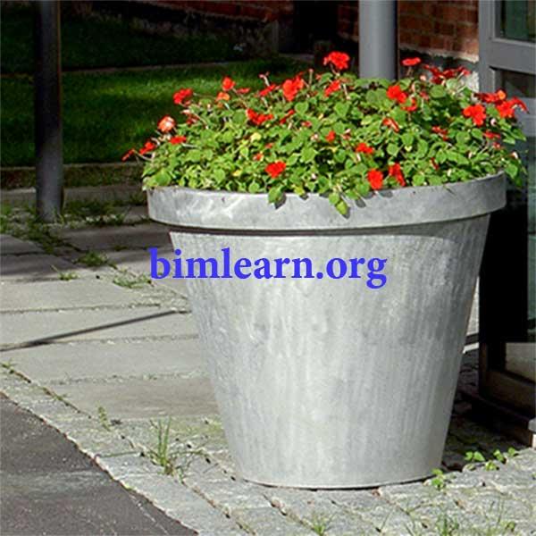 آبجکت گلدان گل رویت