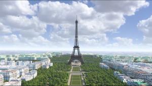 نمایش دادن ۳D  بزرگترین سایت برج ایفل به لطف BIM
