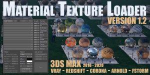 اسکریپت Material Texture Loader v1.1 for 3Ds Max